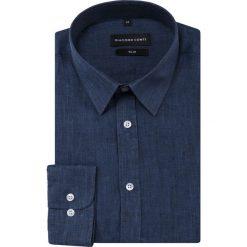 Koszula SIMONE slim KLGS000024. Niebieskie koszule męskie na spinki Giacomo Conti, na lato, m, z klasycznym kołnierzykiem, z długim rękawem. Za 229,00 zł.