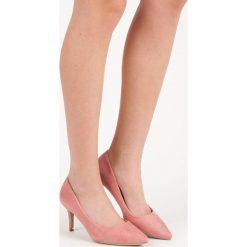 Buty ślubne damskie: CZÓŁENKA DAMSKIE NA OBCASIE - odcienie różu
