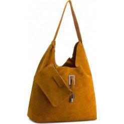 Torebka CREOLE - K10524  Koniak. Żółte torebki klasyczne damskie Creole, ze skóry, duże. W wyprzedaży za 139,00 zł.