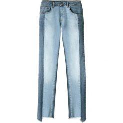 Jeansy skinny z kontrastującymi paskami. Szare jeansy damskie marki La Redoute Collections, m, z bawełny, z kapturem. Za 218,36 zł.