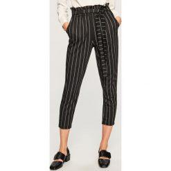 Spodnie z wysokim stanem - Czarny. Czarne spodnie z wysokim stanem Reserved. Za 89,99 zł.