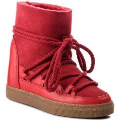 Buty INUIKII - Sneaker Classic 70203-5 Red. Czerwone buty zimowe damskie Inuikii, ze skóry, na niskim obcasie. Za 1129,00 zł.