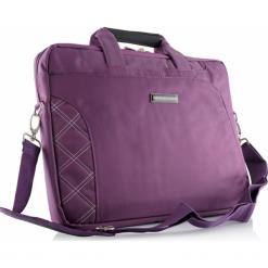 """Modecom Greenwich 15.6"""" fioletowa. Fioletowe torby na laptopa marki Modecom, w paski, z materiału. Za 89,90 zł."""