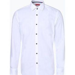 HUGO - Koszula męska łatwa w prasowaniu – Koey, czarny. Czarne koszule męskie na spinki marki HUGO, m, z napisami. Za 349,95 zł.