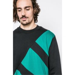 Adidas Originals - Bluza Eqt Block Crew. Szare bluzy męskie rozpinane marki adidas Originals, l, z bawełny, bez kaptura. W wyprzedaży za 259,90 zł.