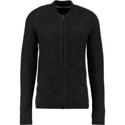 Kardigany męskie: Suit INCH Kardigan black melange