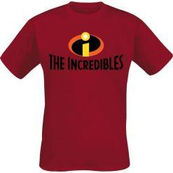 The Incredibles Logo T-Shirt czerwony. Czerwone t-shirty męskie z nadrukiem The Incredibles, l, z okrągłym kołnierzem. Za 74,90 zł.