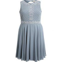 Sukienki hiszpanki: Lace & Beads Curvy NEELAM SKATER  Sukienka koktajlowa grey