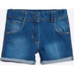 Blue Seven - Szorty dziecięce 92-128 cm. Niebieskie spodenki dziewczęce Blue Seven, z haftami, z bawełny, casualowe. W wyprzedaży za 39,90 zł.