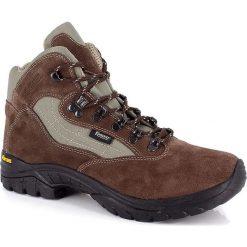 """Buty trekkingowe męskie: Skórzane buty trekkingowe """"Nimba"""" w kolorze brązowym"""