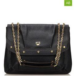 Torebki klasyczne damskie: Skórzana torebka w kolorze czarnym – 23 x 29 x 3 cm