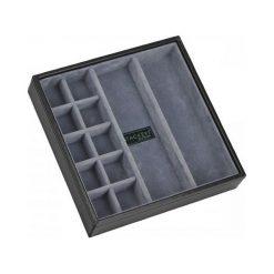 Pudełko na spinki i zegarki 12 komorowe Stackers czarno-szare. Czarne zegarki męskie marki Stackers. Za 109,00 zł.