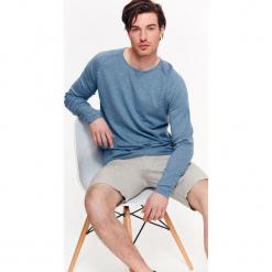 SWETER MĘSKI Z CIENKIEJ DZIANINY. Szare swetry klasyczne męskie Top Secret, na lato, m, z dzianiny, z golfem. Za 34,99 zł.
