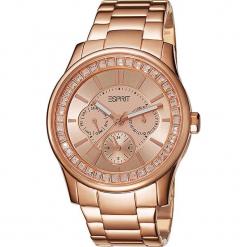 """Zegarek kwarcowy """"Starlight"""" w kolorze różowozłotym. Żółte, analogowe zegarki damskie Esprit Watches, ze stali. W wyprzedaży za 363,95 zł."""
