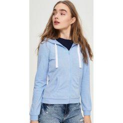 Bluzy damskie: Bluza z kapturem – Niebieski