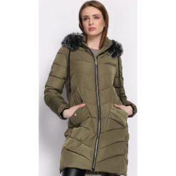 Ciemnozielona Kurtka Kindled. Szare kurtki damskie pikowane Born2be, na zimę, l, z aplikacjami. Za 189,99 zł.