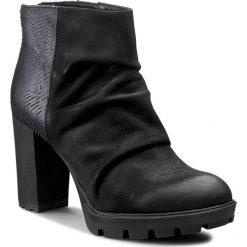 Botki CARINII - B3616 360-H76-PSK-B46. Czarne buty zimowe damskie marki Carinii, z materiału. W wyprzedaży za 229,00 zł.