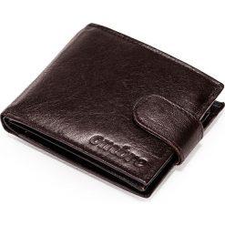 PORTFEL MĘSKI SKÓRZANY A089 - BRĄZOWY. Brązowe portfele męskie Ombre Clothing. Za 49,00 zł.