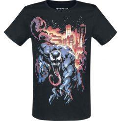 Venom (Marvel) City Fire T-Shirt czarny. Niebieskie t-shirty męskie z nadrukiem marki Reserved, l, z okrągłym kołnierzem. Za 74,90 zł.