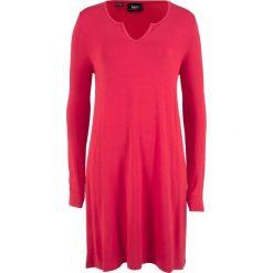 Sukienka shirtowa bonprix czerwony. Czerwone sukienki marki bonprix. Za 37,99 zł.