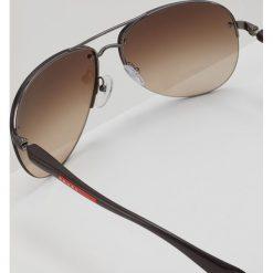 Prada Linea Rossa Okulary przeciwsłoneczne gunmetal. Szare okulary przeciwsłoneczne męskie aviatory Prada Linea Rossa. Za 839,00 zł.