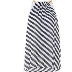 MICHAEL Michael Kors GRAPHIC CHAIN TOP Bluzka true navy/ white. Niebieskie bluzki asymetryczne MICHAEL Michael Kors, s, z materiału. Za 569,00 zł.
