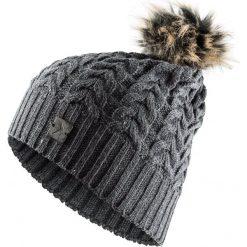 Czapka damska CAD616 - średni szary melanż - Outhorn. Szare czapki zimowe damskie Outhorn, na jesień, melanż. Za 34,99 zł.