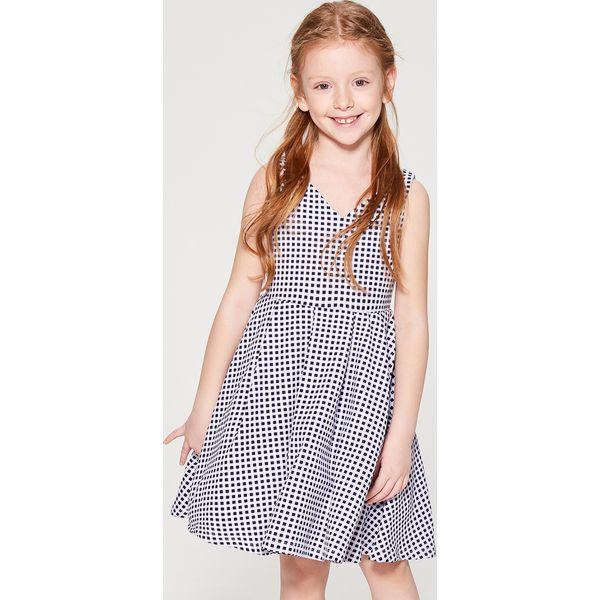 ad9514c5d0 Sukienka w kratę gingham dla dziewczynki Little Princess - Biały - Białe  sukienki dziewczęce Mohito