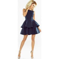 MAGDA Sukienka rozkloszowana - GRANATOWA. Niebieskie sukienki na karnawał marki numoco, s, z materiału, rozkloszowane. Za 239,99 zł.