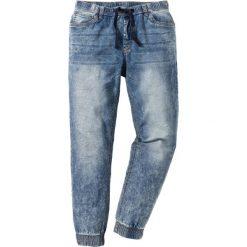 Dżinsy bez zamka w talii Slim Fit Straight bonprix niebieski. Niebieskie jeansy męskie relaxed fit bonprix, z jeansu. Za 99,99 zł.
