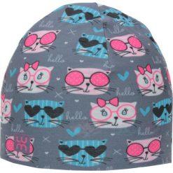 Dwuwarstwowa czapka Micro Double kid kitty. Szare czapeczki niemowlęce marki LUM. Za 53,54 zł.