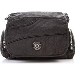 Męska torba na ramię doskonała jakość Czarny. Czarne torby na ramię męskie marki Bag Street, w paski, na ramię, małe. Za 57,90 zł.