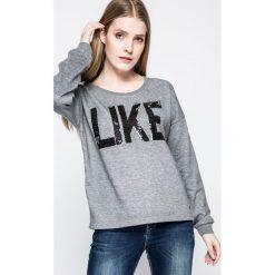 Vero Moda - Bluza Diddle. Szare bluzy rozpinane damskie Vero Moda, m, z aplikacjami, z bawełny, bez kaptura. W wyprzedaży za 49,90 zł.