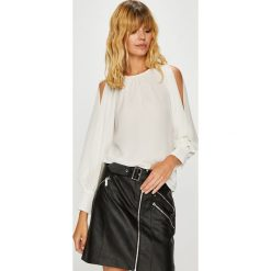 Morgan - Bluzka. Szare bluzki damskie marki Morgan, z elastanu, casualowe, z okrągłym kołnierzem. W wyprzedaży za 159,90 zł.