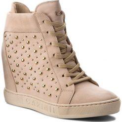 Sneakersy CARINII - B4394 504-000-000-B88. Brązowe sneakersy damskie Carinii, z materiału. W wyprzedaży za 249,00 zł.