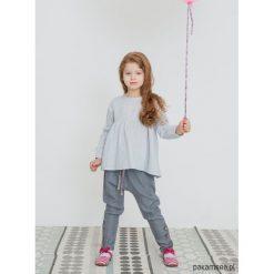 Bluzki dziewczęce bawełniane: ANNIE COTTON bluzka szara z różową kokardką