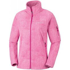 Columbia Bluza Damska Fast Trek Printed Jkt Cactus Pink Sta L. Różowe bluzy polarowe Columbia, l. Za 239,00 zł.