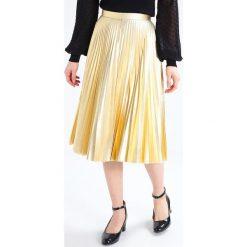 Spódniczki plisowane damskie: Topshop Petite Spódnica plisowana gold