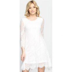 Sukienki: Biała Sukienka Cherry Wine
