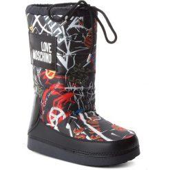 Śniegowce LOVE MOSCHINO - JA24022G16IP200A Graff.Ne. Śniegowce damskie Love Moschino, z materiału, na niskim obcasie. Za 659,00 zł.