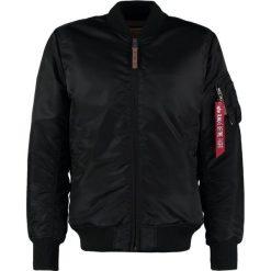 Alpha Industries Kurtka Bomber black. Czarne kurtki męskie bomber marki Alpha Industries, m, z aplikacjami. Za 719,00 zł.