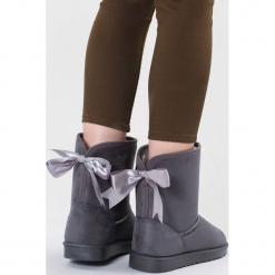 Szare Śniegowce Proper. Szare buty zimowe damskie other, z materiału, z okrągłym noskiem, na platformie. Za 89,99 zł.