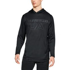 Bejsbolówki męskie: Under Armour Bluza męska Tech Terr PO Graphic Hoodie czarna r. XL (1306445-001)