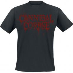 Cannibal Corpse Logo T-Shirt czarny. Czarne t-shirty męskie z nadrukiem Cannibal Corpse, l, z dekoltem na plecach. Za 54,90 zł.