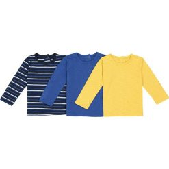 T-shirty chłopięce: Zestaw 3 t-shirtów z długim rękawem 1 mies. – 3 lata