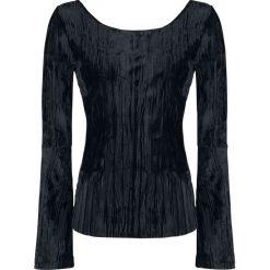 Bluzy rozpinane damskie: Outer Vision Nora Velvet Bluza damska czarny