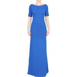Sukienka w kolorze niebieskim. Niebieskie sukienki marki YULIYA BABICH, m, z dekoltem w łódkę, midi. W wyprzedaży za 349,95 zł.