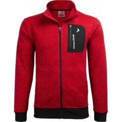 Bluza męska BLM610 - czerwony melanż - Outhorn. Czerwone bluzy męskie rozpinane marki KALENJI, m, z elastanu, z długim rękawem, długie. W wyprzedaży za 99,99 zł.