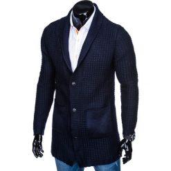 SWETER MĘSKI ROZPINANY E119 - GRANATOWY. Niebieskie kardigany męskie marki Inny, m, z poliakrylu. Za 69,00 zł.
