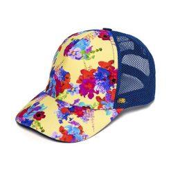 Damska czapka z daszkiem Flowers z kolekcji Phax. Niebieskie czapki z daszkiem damskie marki Astratex, w kwiaty. Za 83,99 zł.